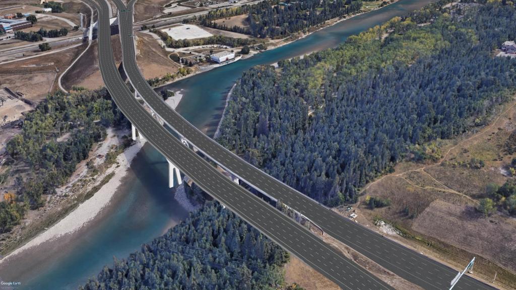 Bow River Bridge rendering