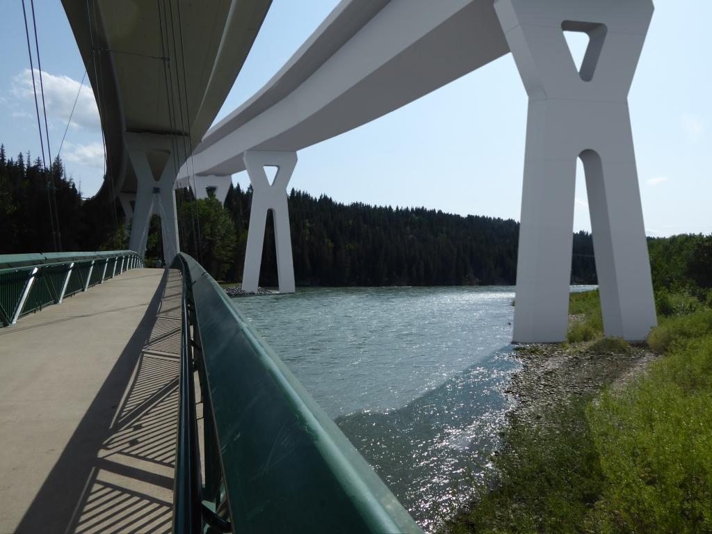 Bow River Bridge rendering - looking west