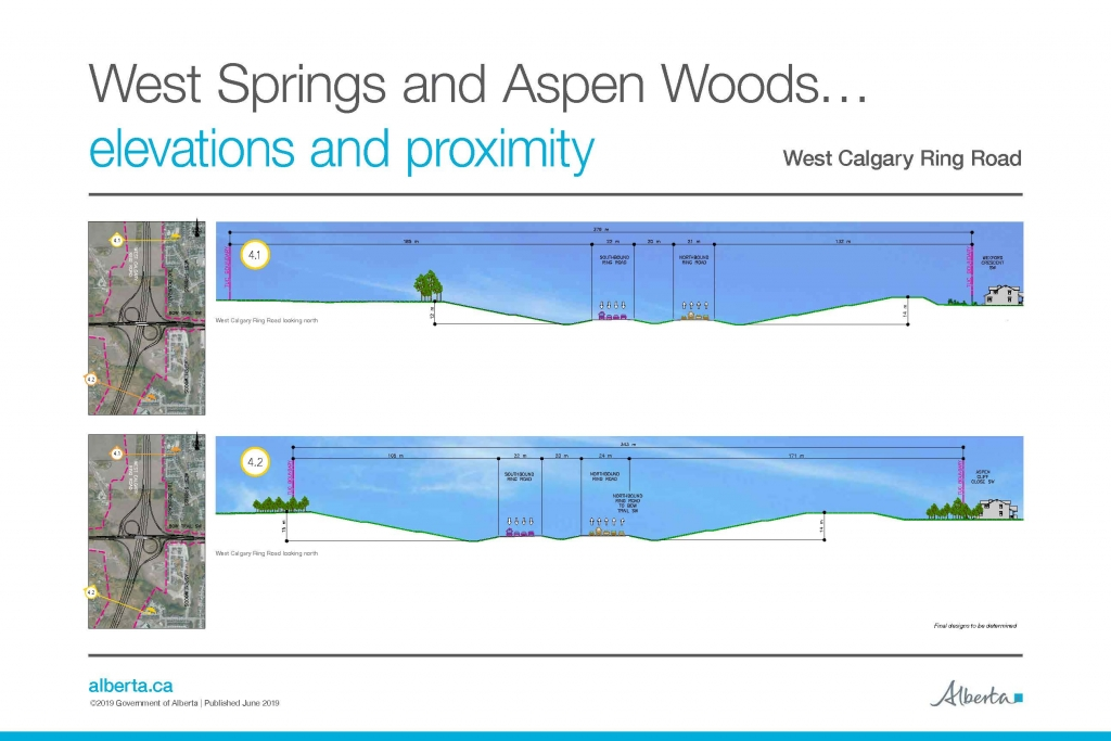 WCRR West Springs and Aspen Woods cross sections