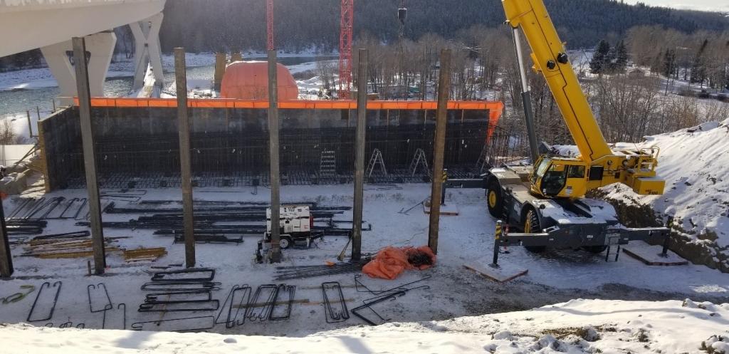 Bow River Bridge construction site