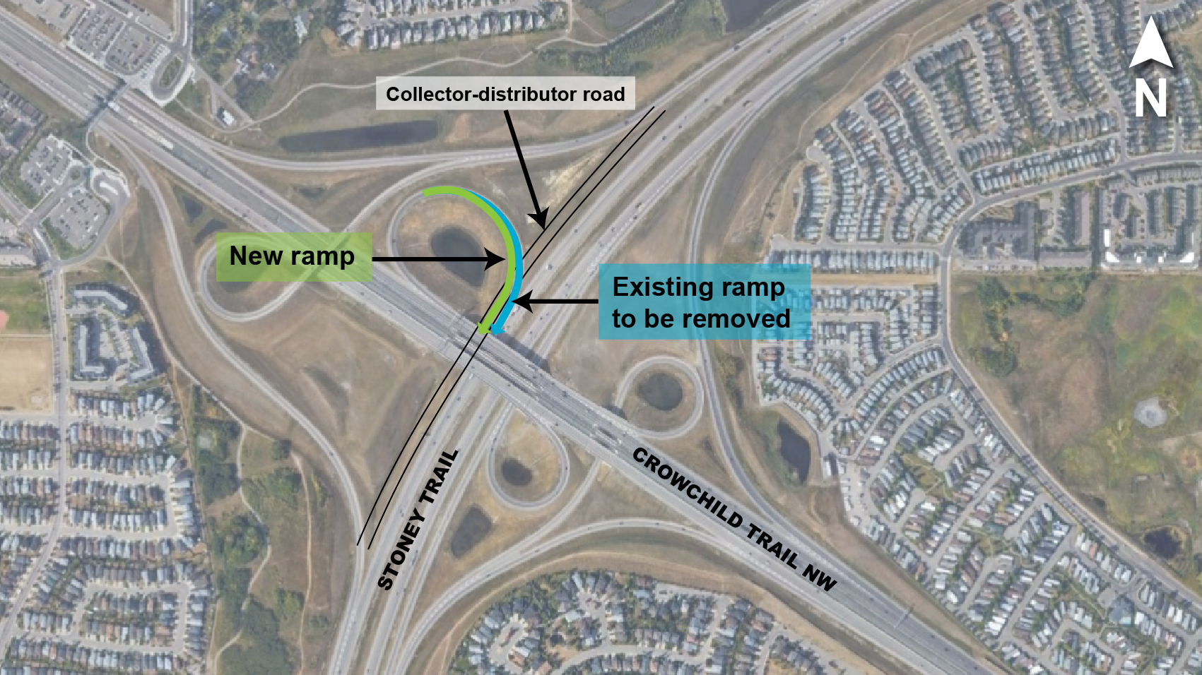 Crowchild Stoney Ramp Change