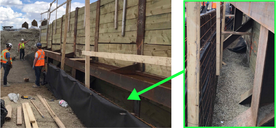 Reinforced steepened slope wall