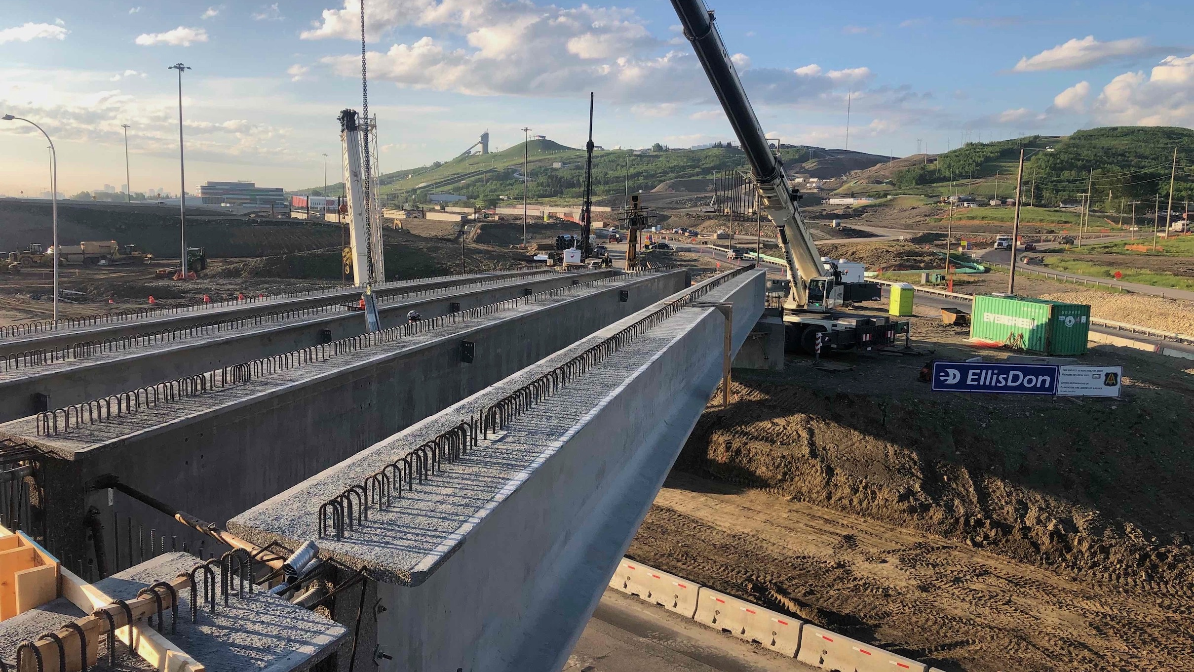 All girders installed south span