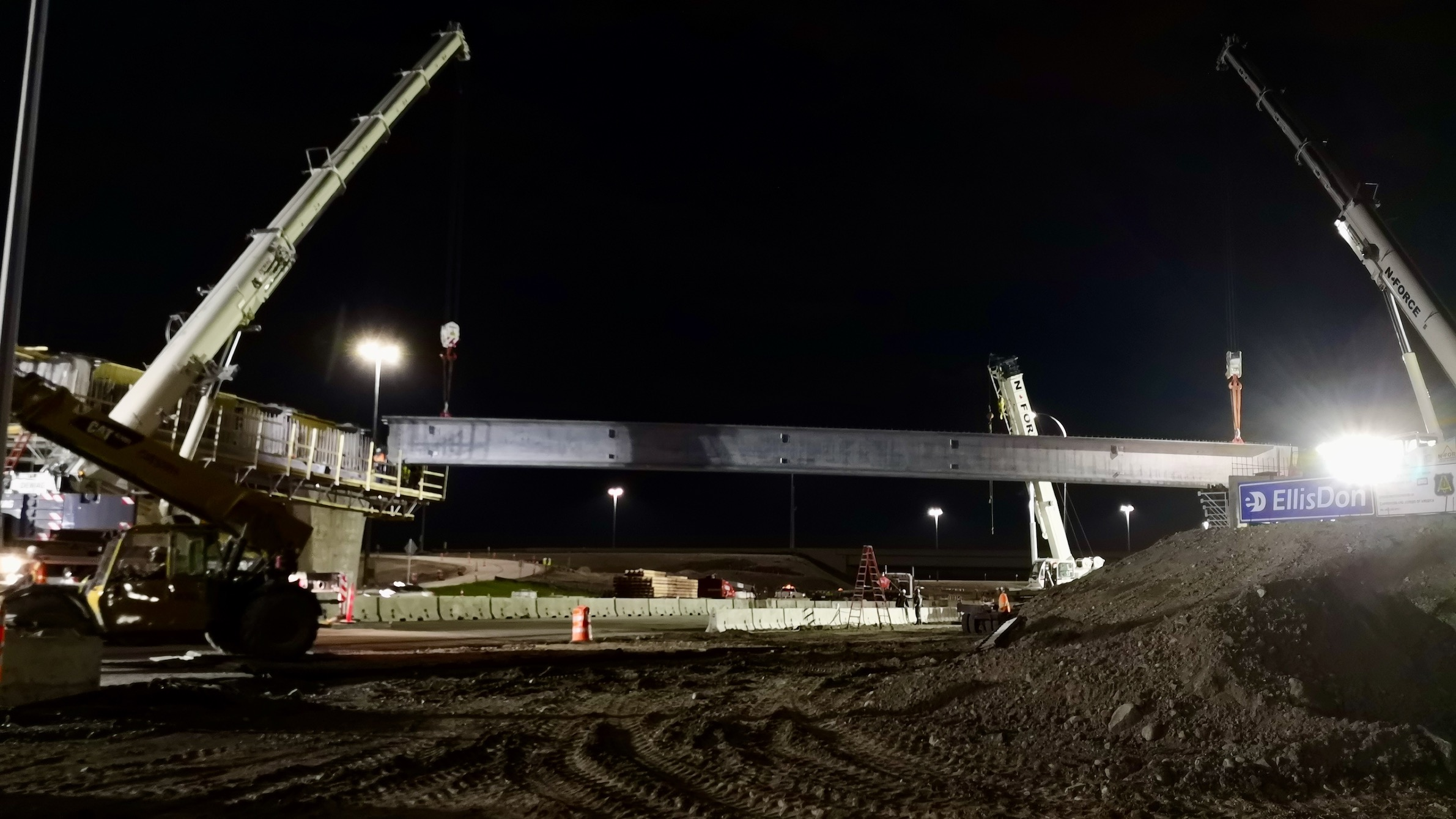 First girder installed on south span