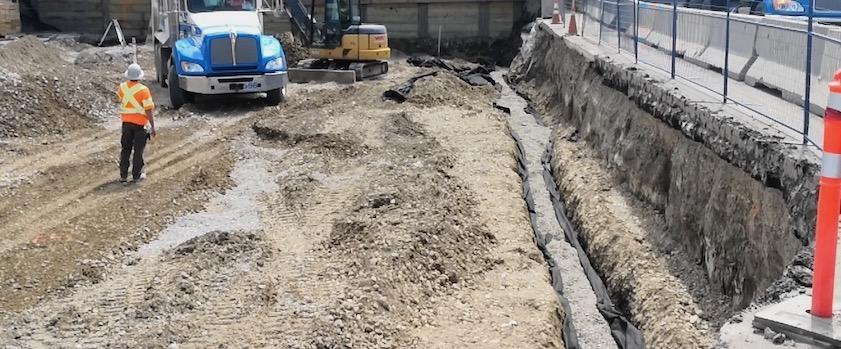 West abutment drain