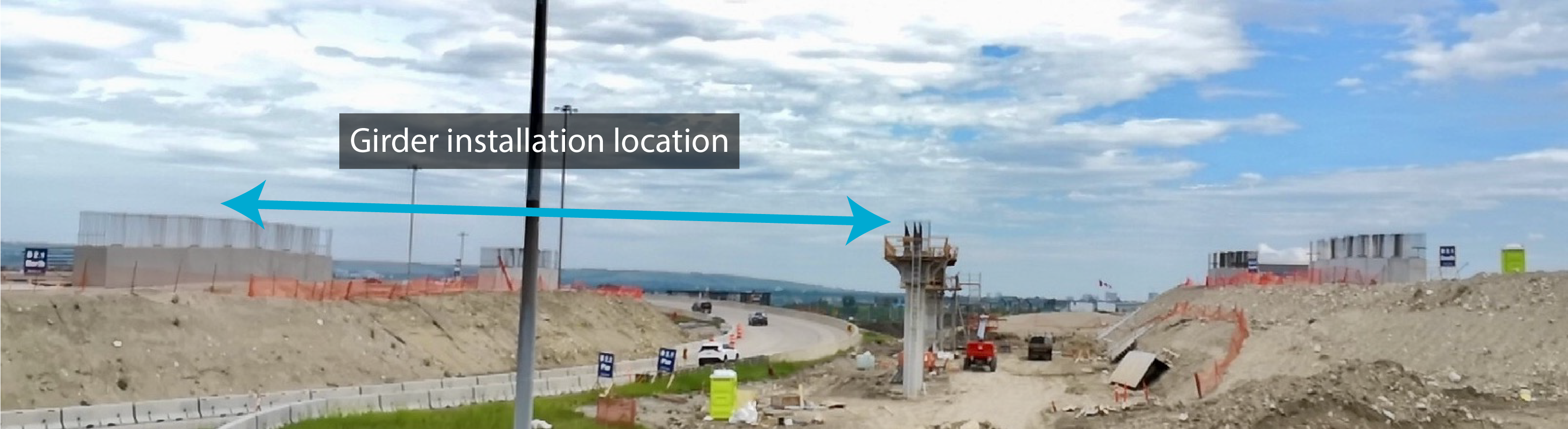 Girder installation location