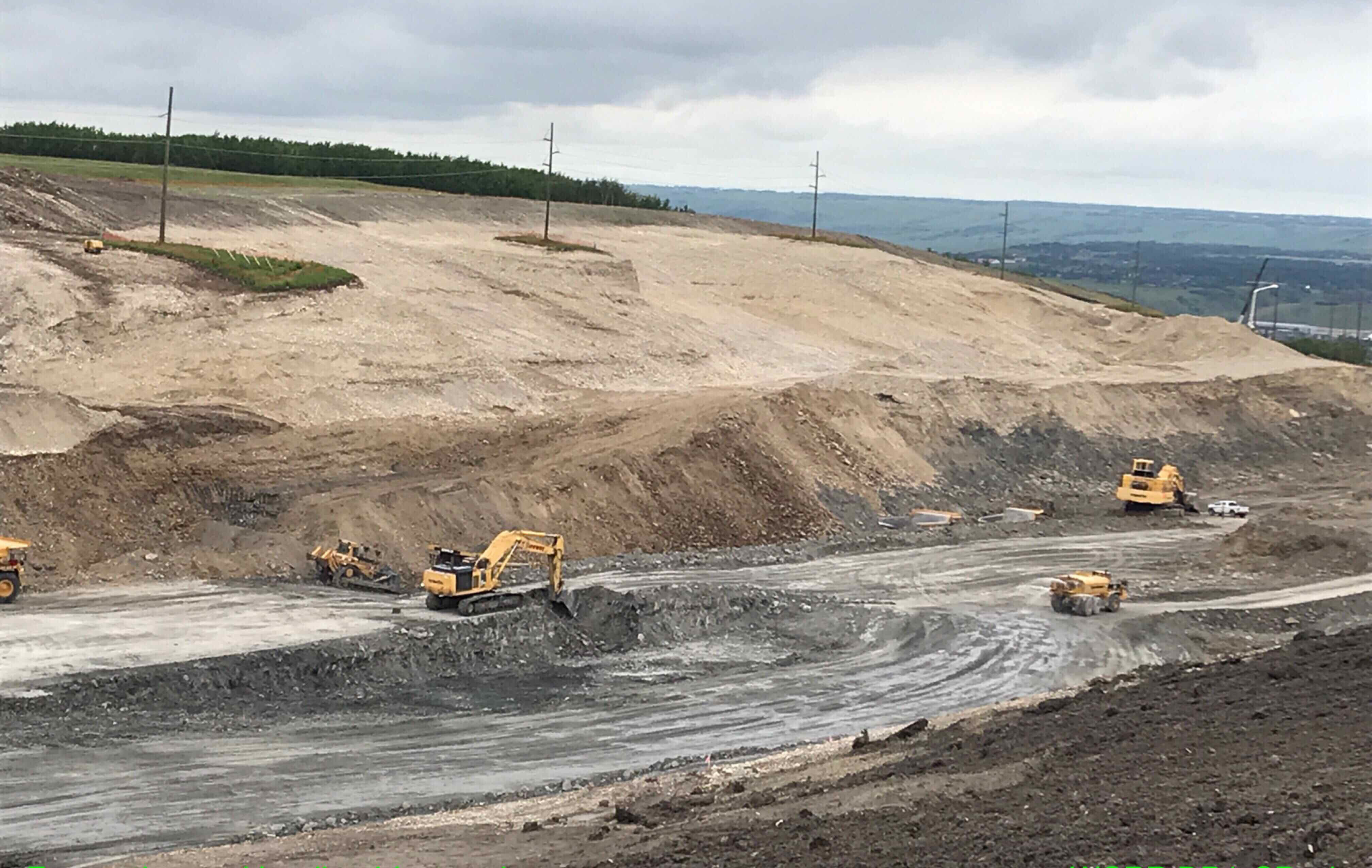 Blasting on south Paskapoo Slope
