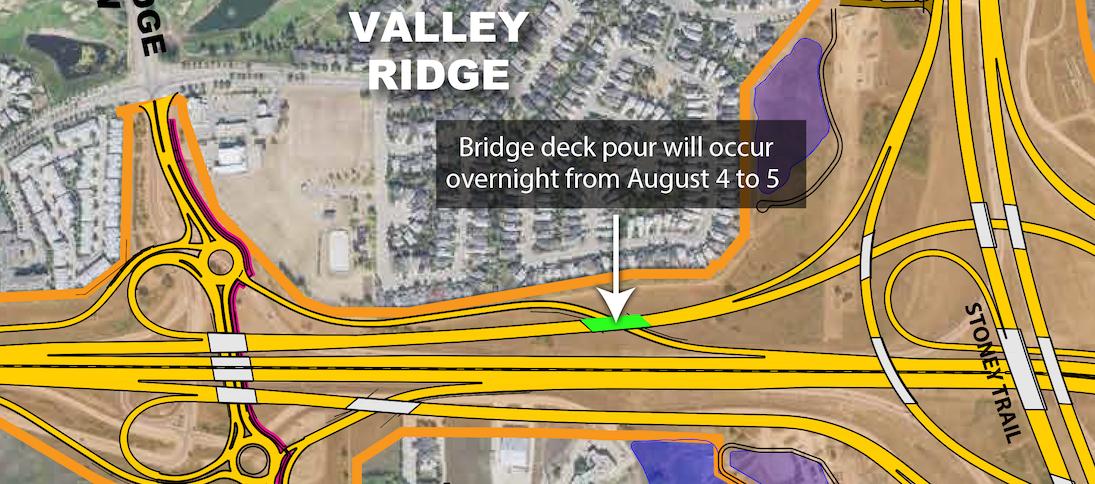Bridge deck pour key map