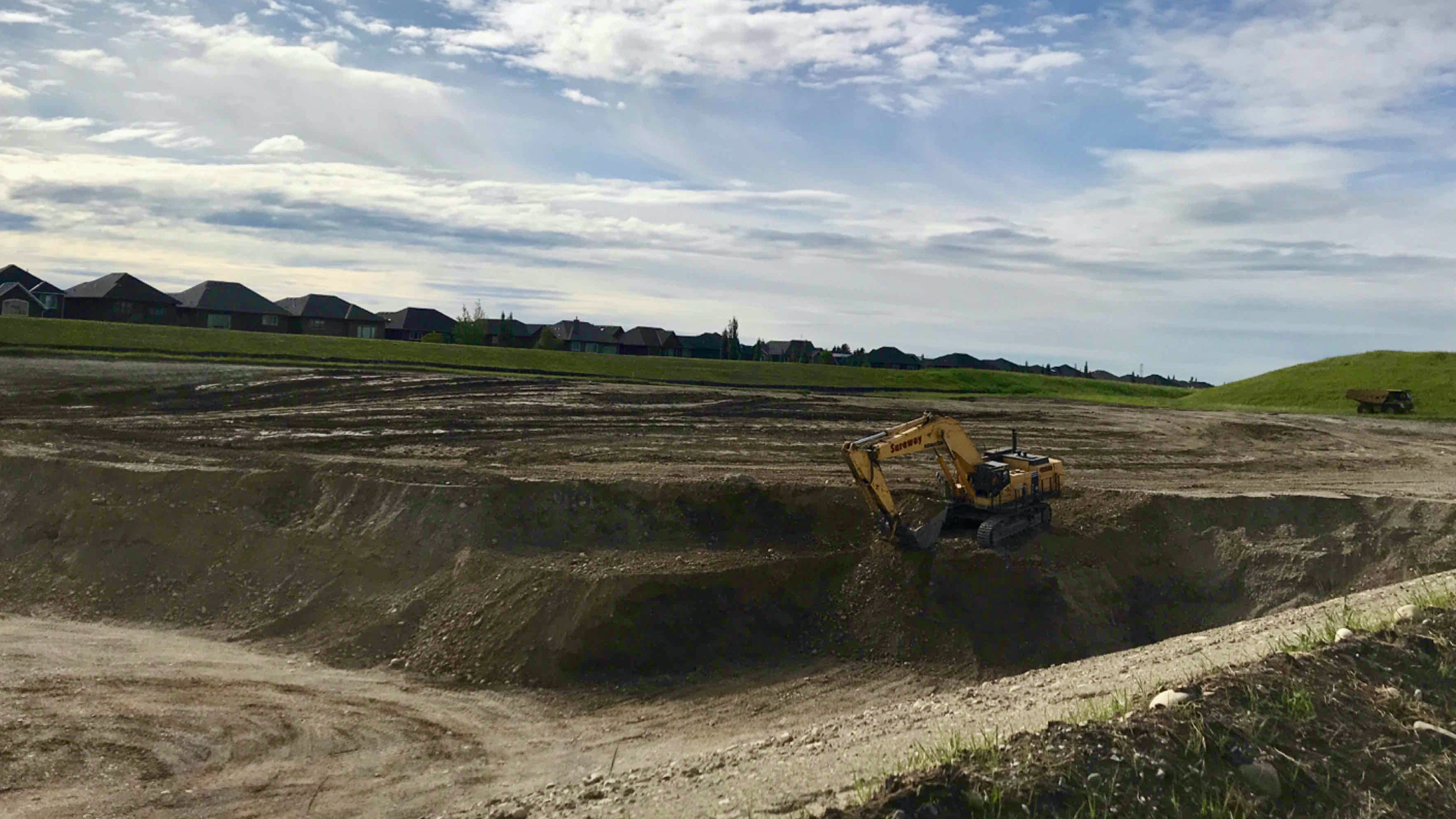 Gravel excavation July 15
