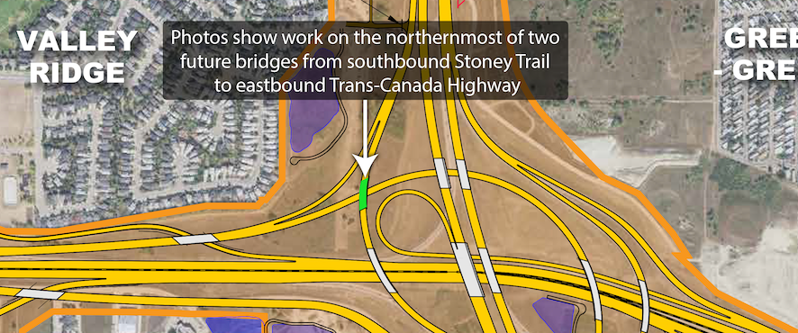 Trans-Canada Highway and Stoney Trail interchange map