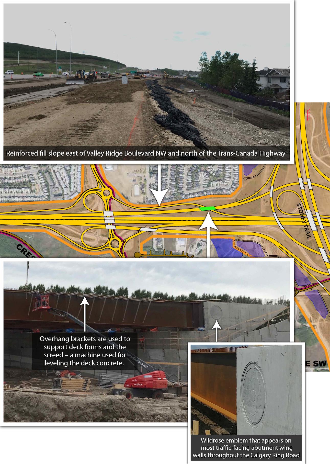 Work on Trans-Canada Highway and Valley Ridge Blvd interchange