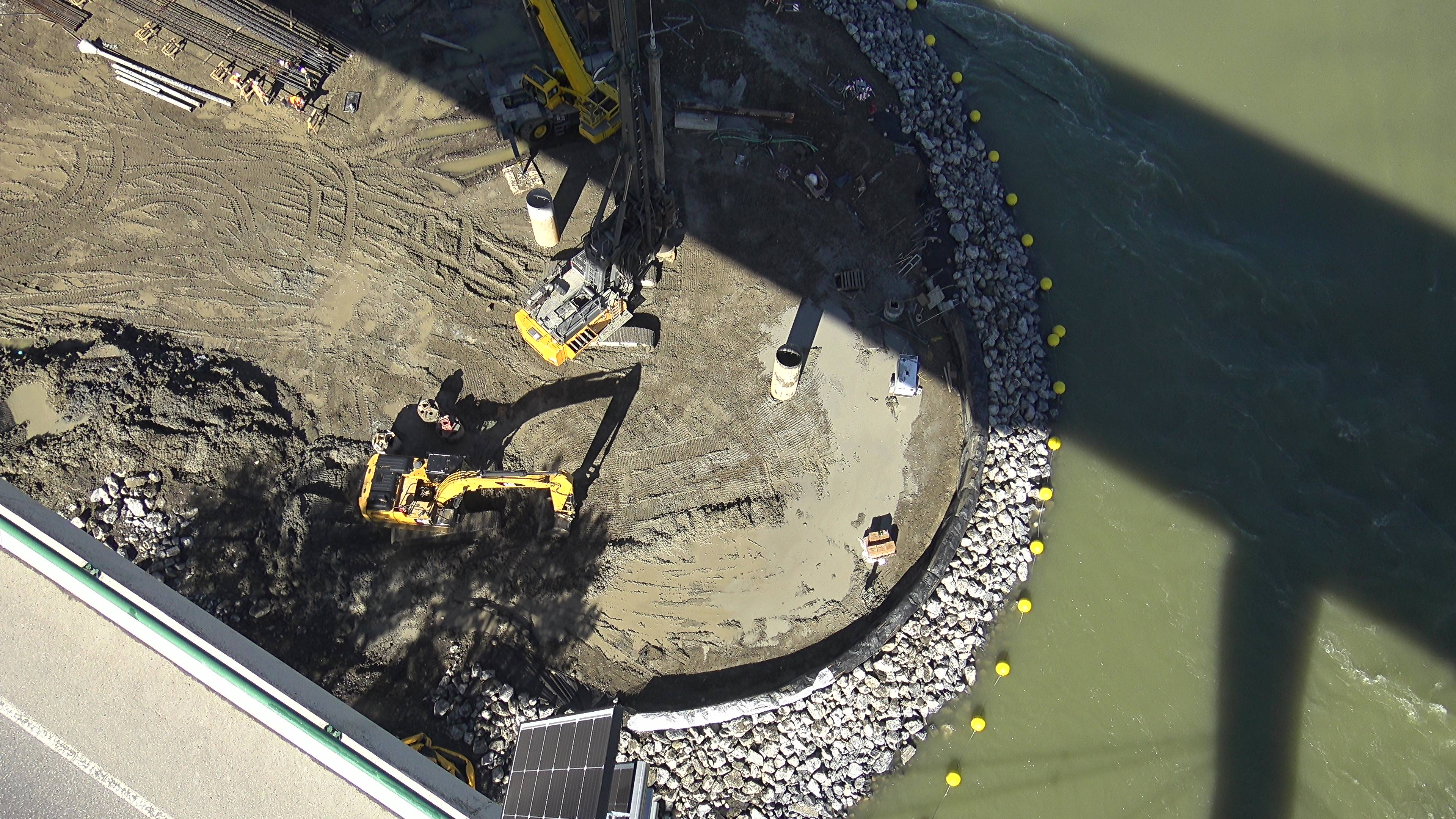 Cofferdam from above