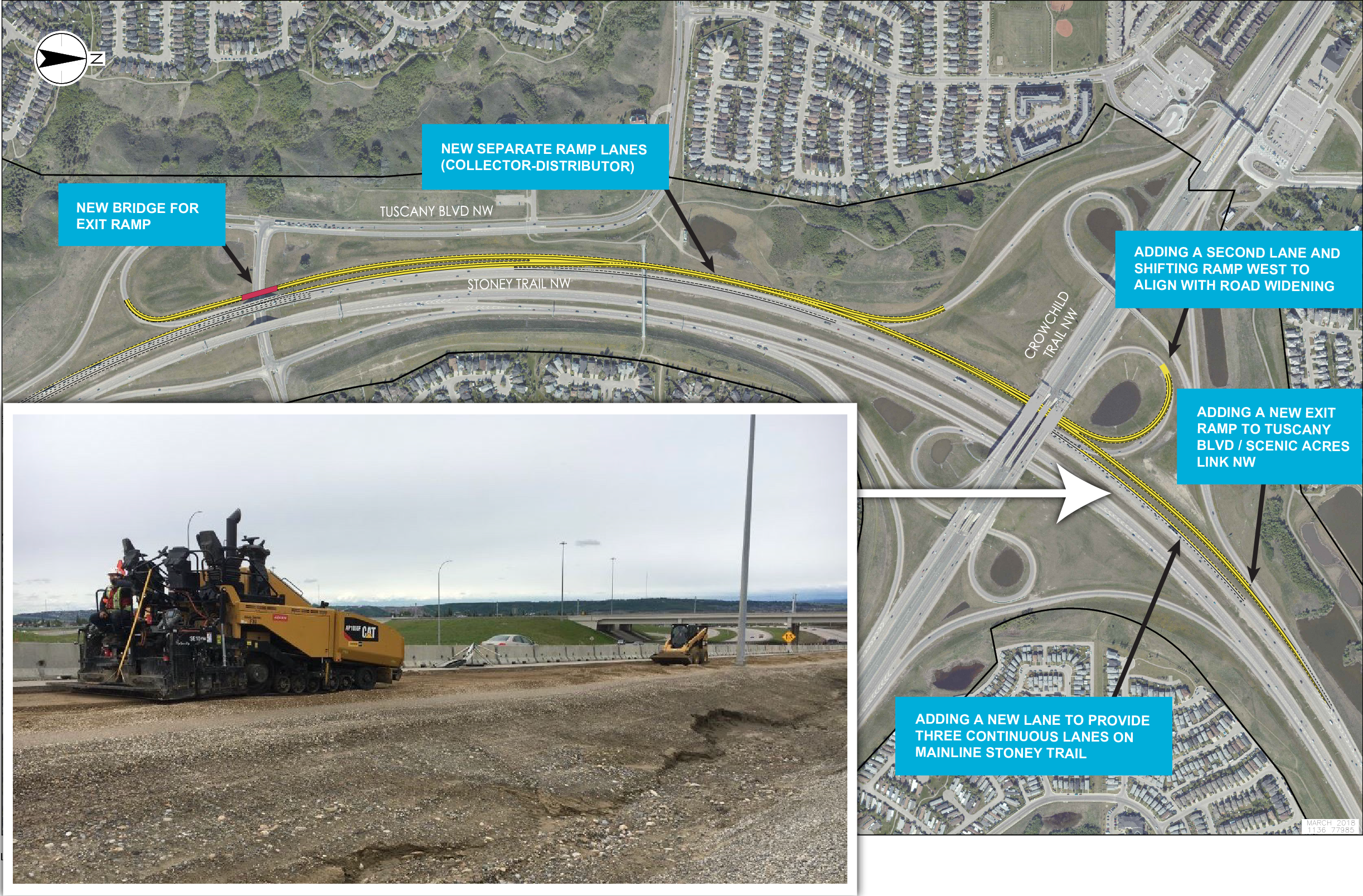 Stoney Trail widening location map