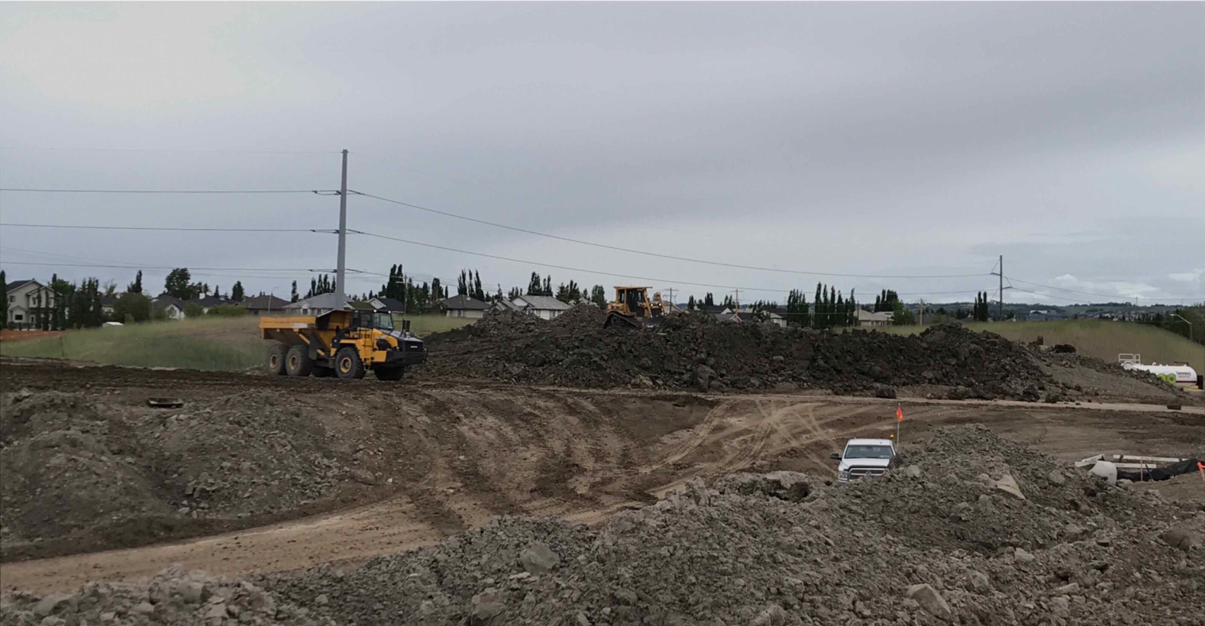 Stockpiling clay