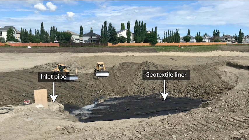 Geotextile and clay