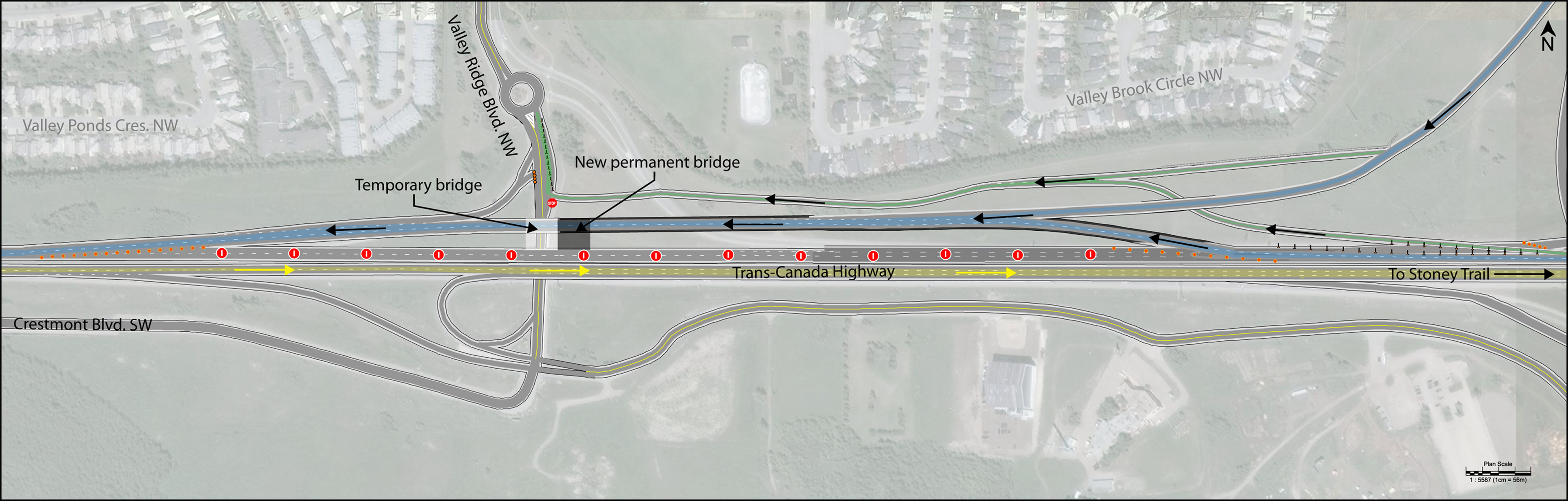 Westbound TCH shifted to temp bridge 3