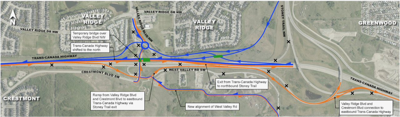 West of Stoney Trail Detours
