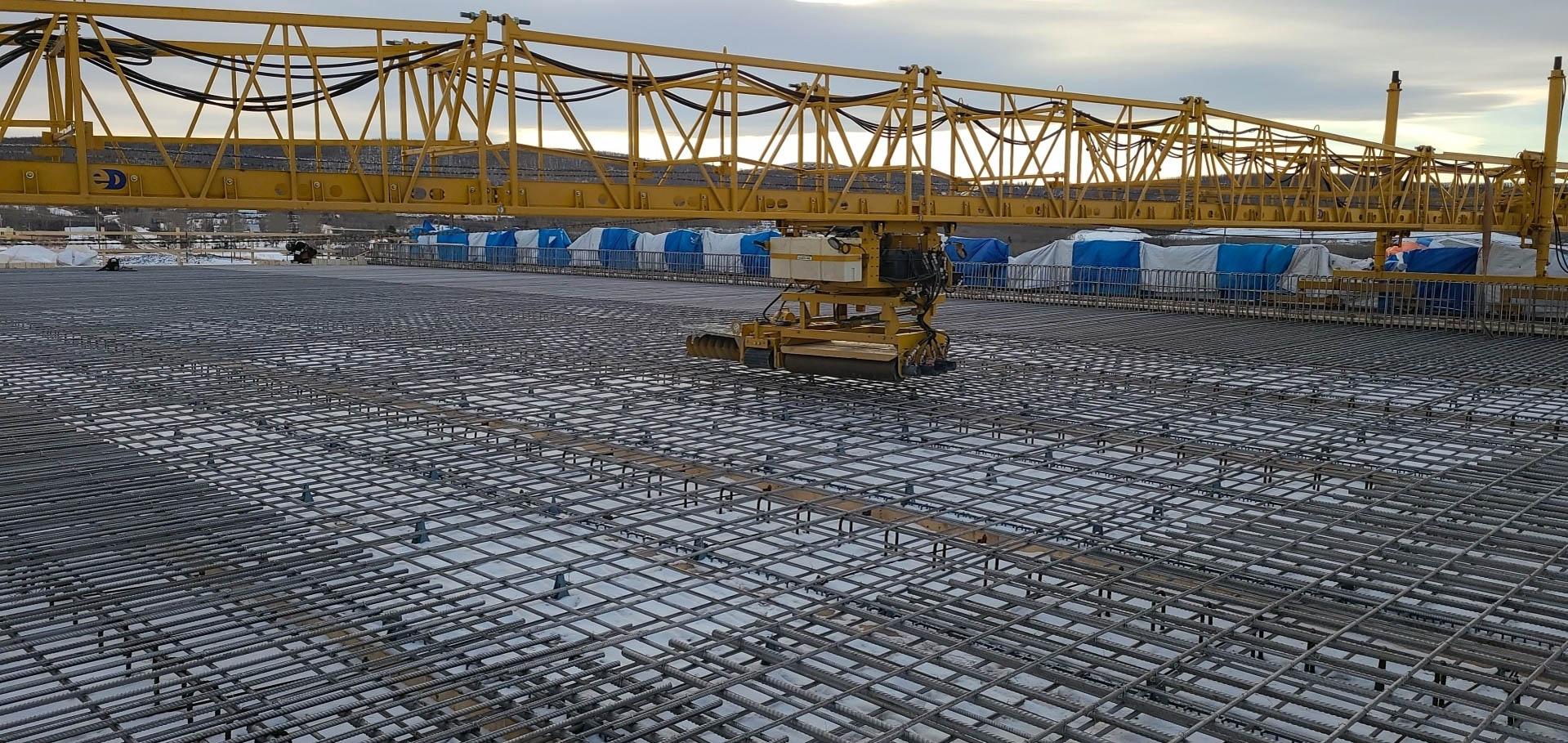 deck rebar concrete dry run