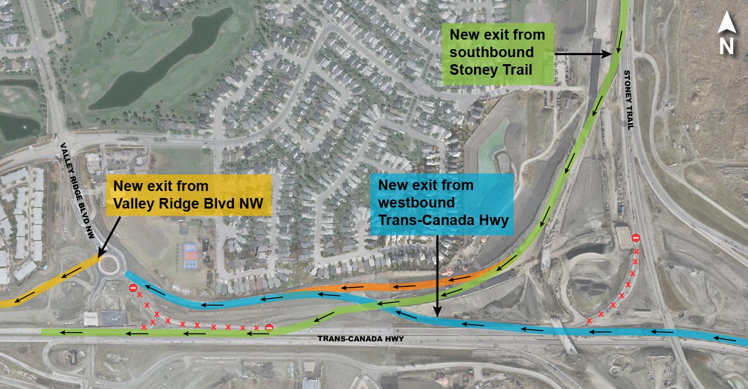 TCH detour map with VRB