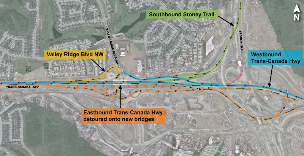 Eastbound Trans-Canada Highway Detour Plan