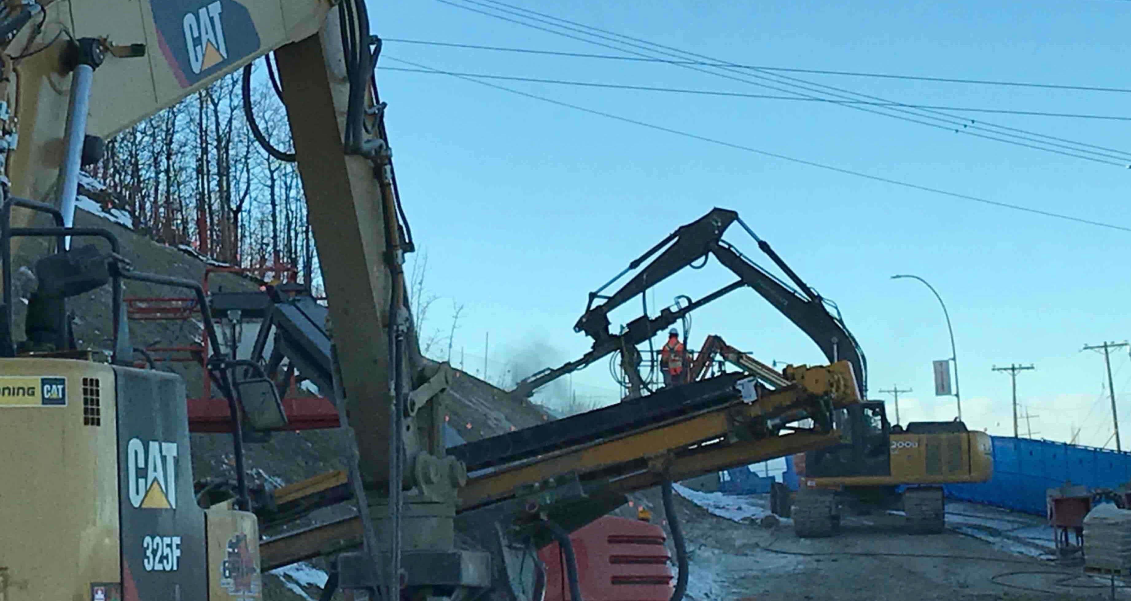 RF3.1 drilling soil nails west end 25 Nov