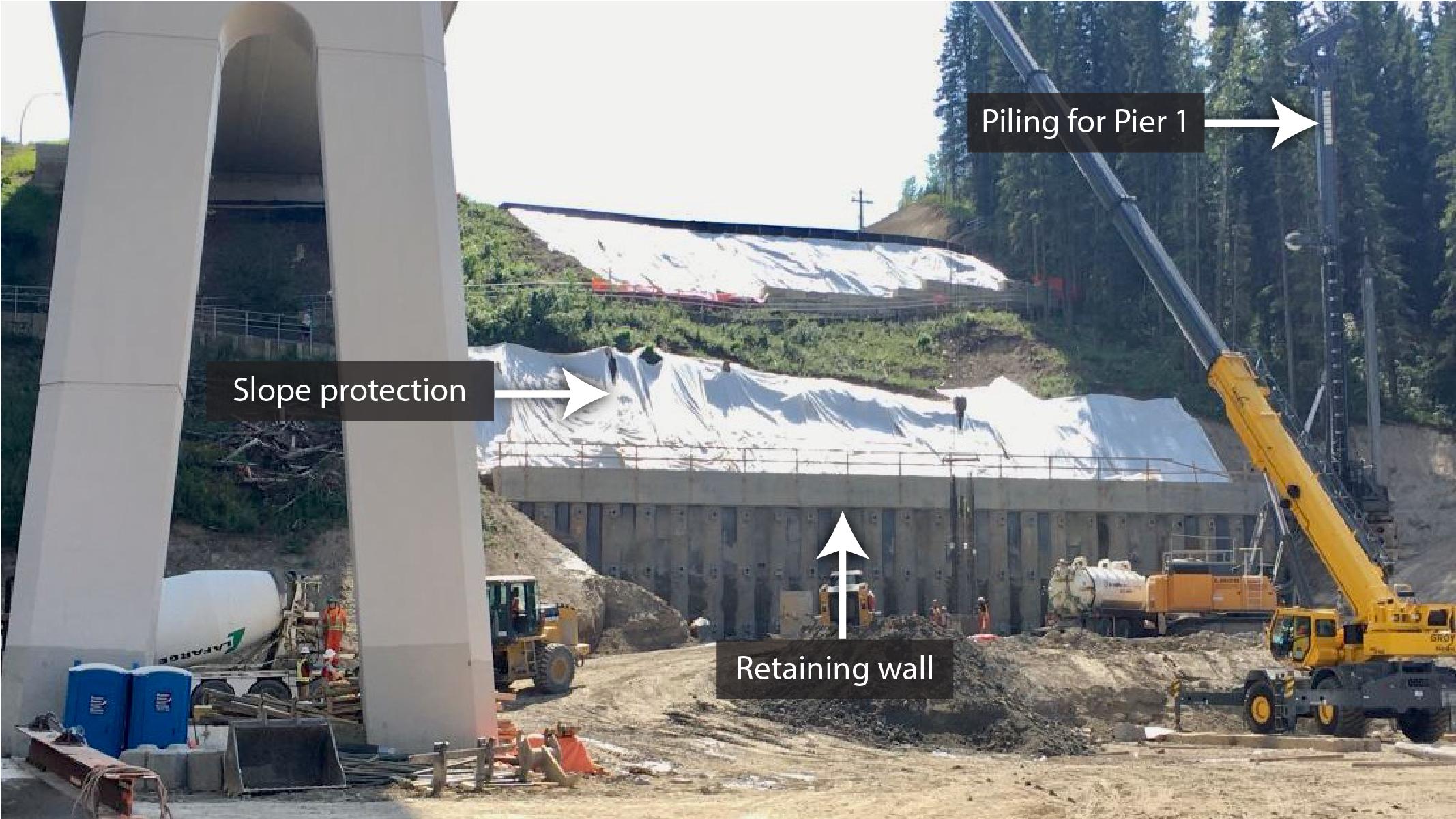 WBRB retaining wall