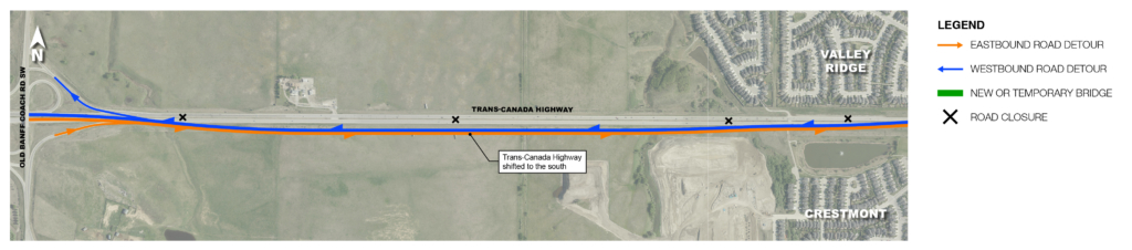 West Trans-Canada Highway detour