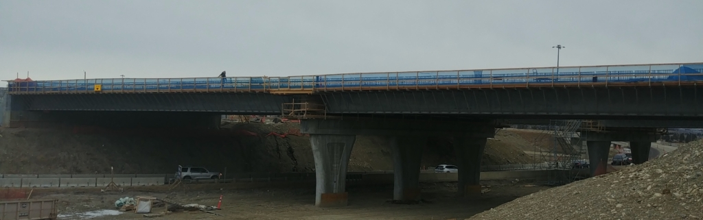 Formwork for both spans