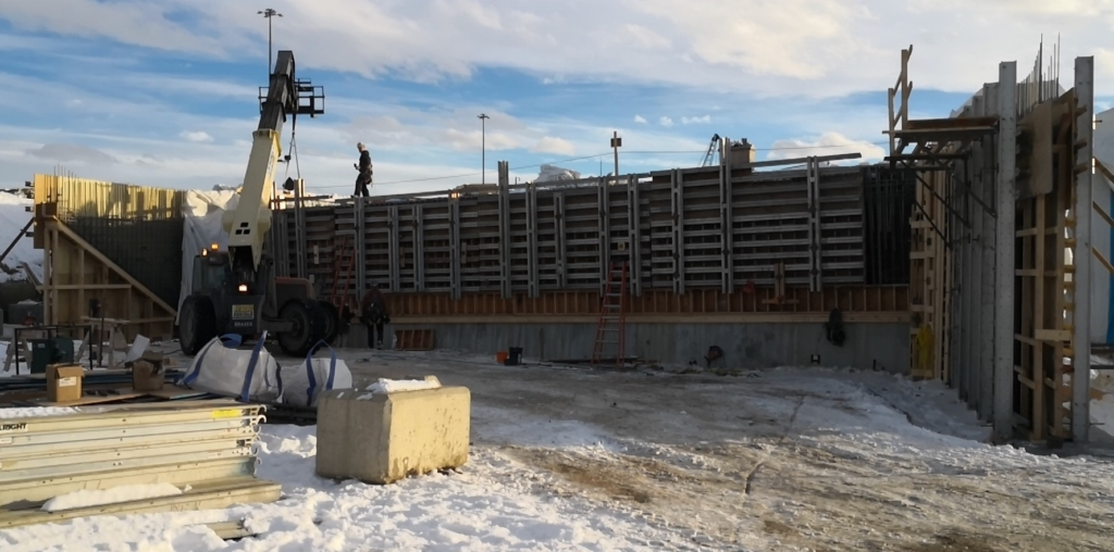 north abutment formwork