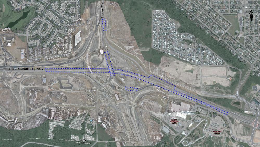 Lane closure map