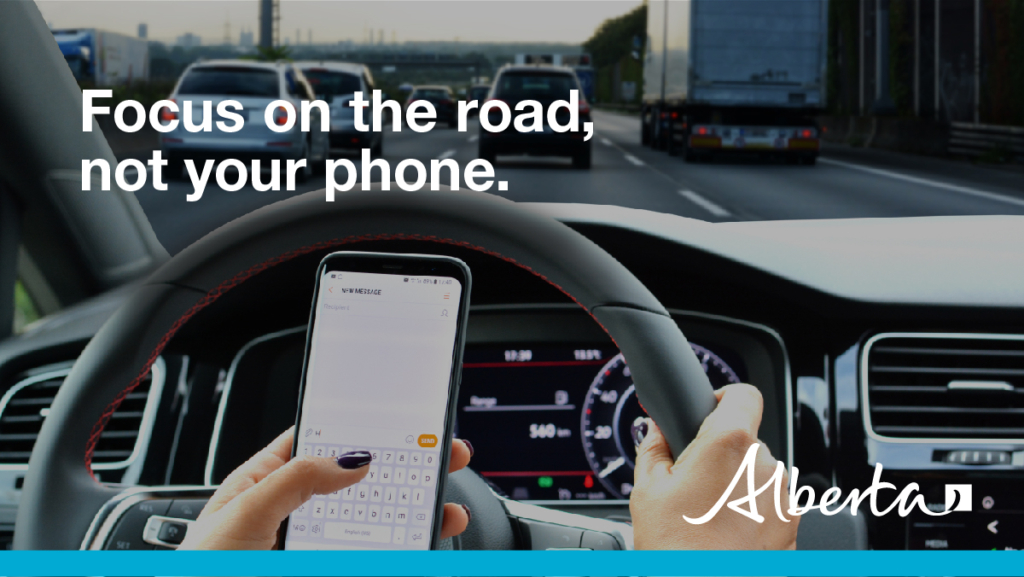 Focus on the road, not your phone.