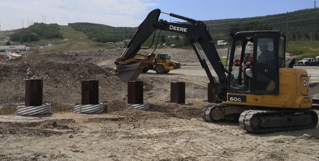 filling CSP gravel foundation