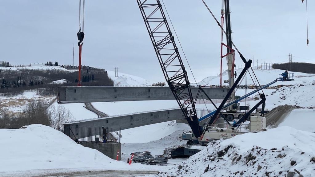 Second girder installed
