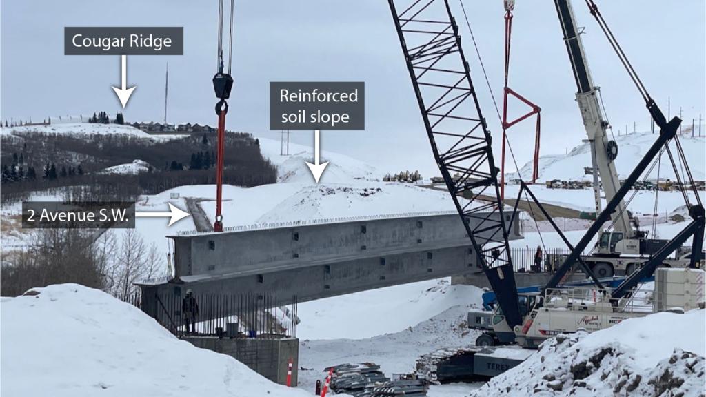 Second girder placement