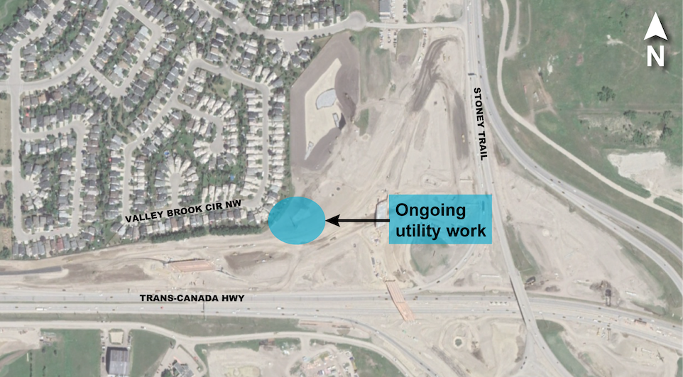 Ongoing utility work