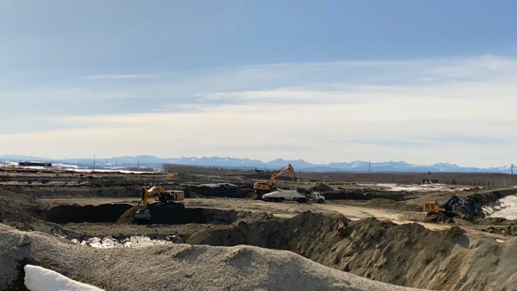 Gravel excavation