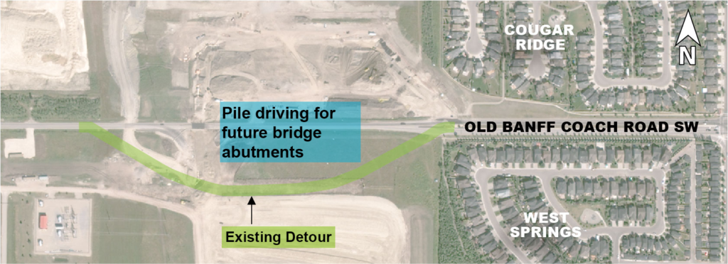 Old Banff Coach Road detour map