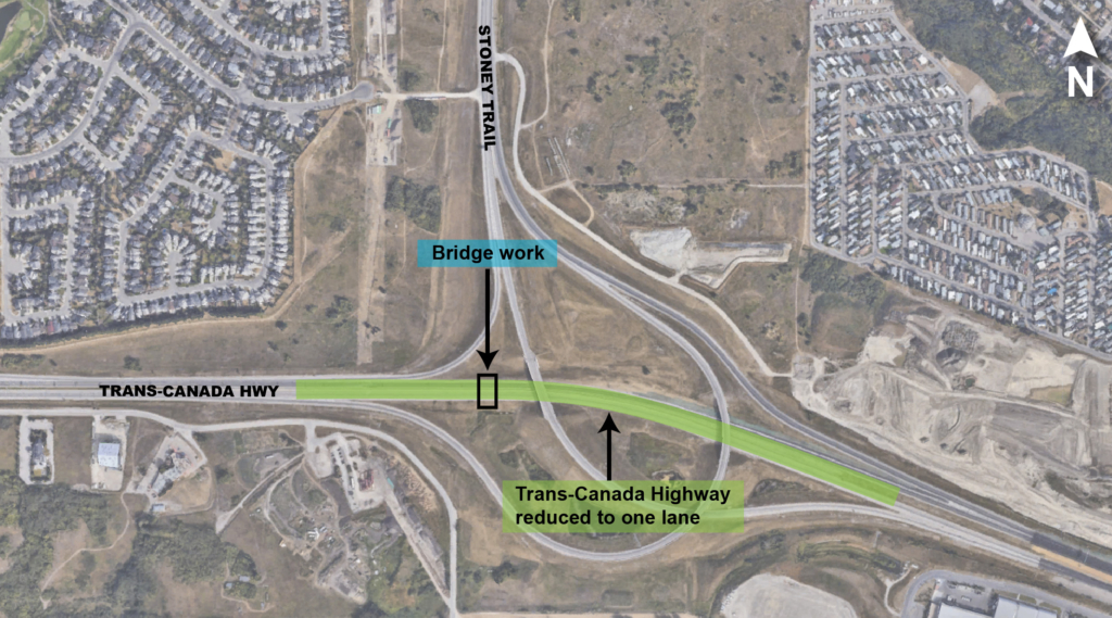TCH traffic crossovers detour map