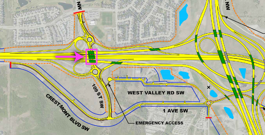 Key map - Valley Ridge Blvd interchange