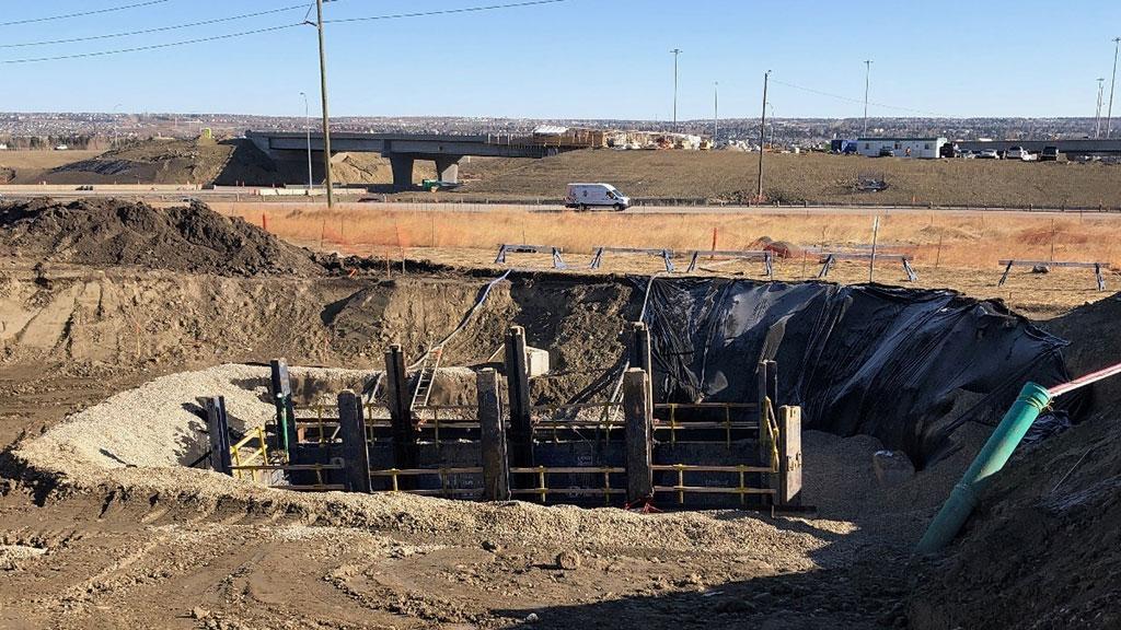 storm sewer excavation