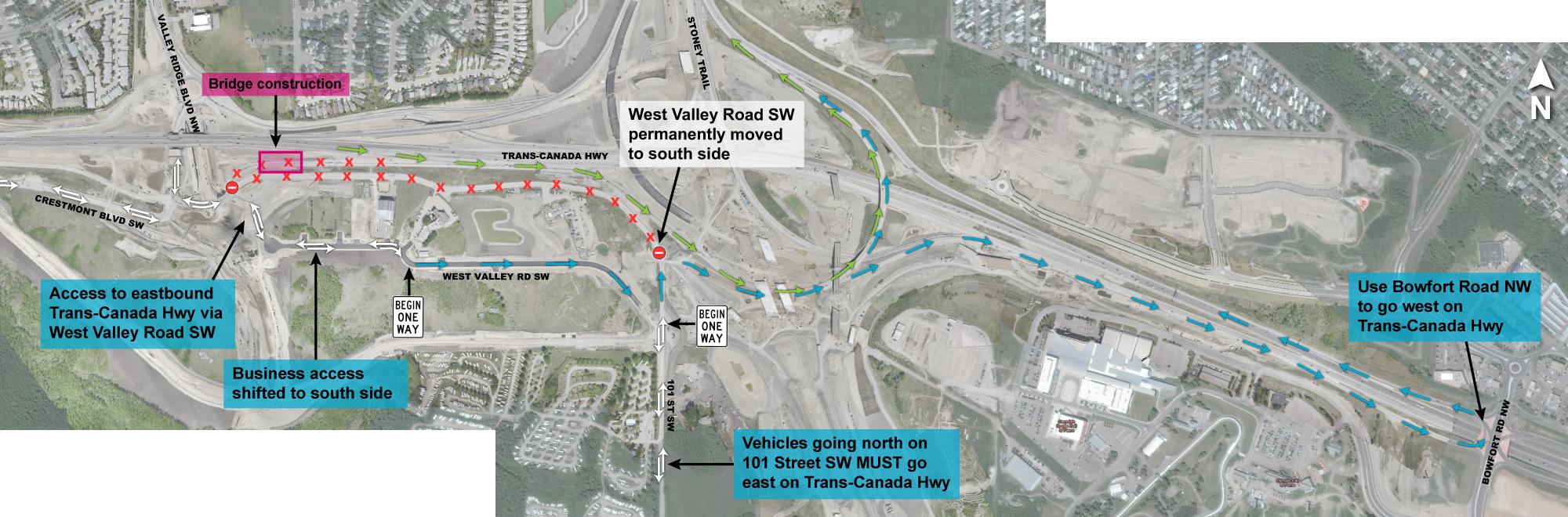 West Valley Rd detour July 2021